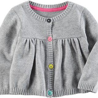 Carter's Baby Girls' Button up Sweater 9 Months