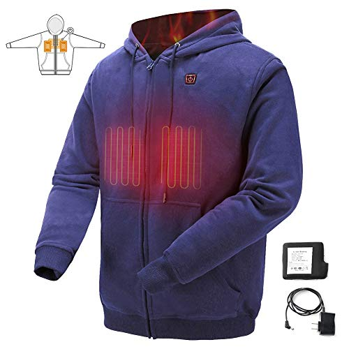 COLCHAM Heated Sweatshirt Men Women Warm Fleece