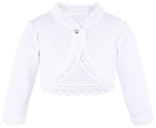 Lilax Baby Girls' Knit Long Sleeve Button Closure Bolero Cardigan