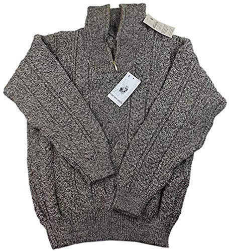 Kerry Woollen Mills Men's Wool Sweater Zipper 100% Organic Wool
