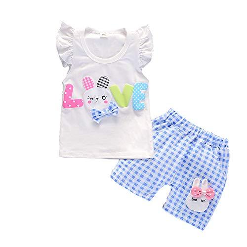 BibiCola Baby Girls Rabbit Clothing Sets Summer Kids Tracksuit Children Tops