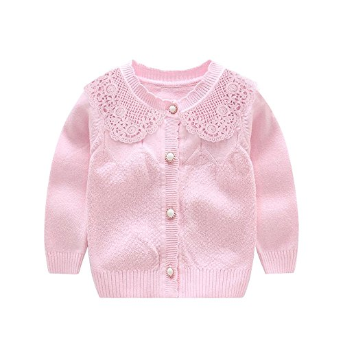 Knitted Baby Girls Cardigan Toddler Button Sweaters