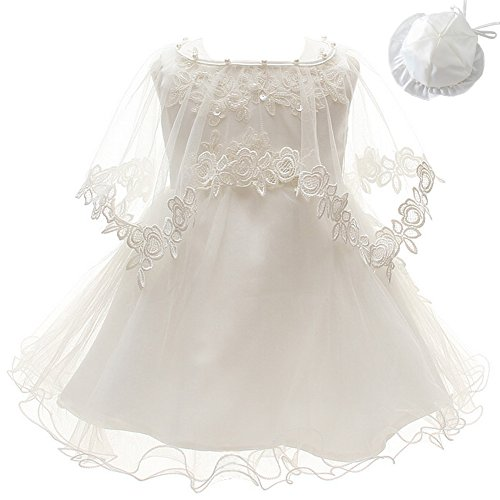 3Pcs Set Baby Girl Dress Christening Baptism Gowns Formal Dress