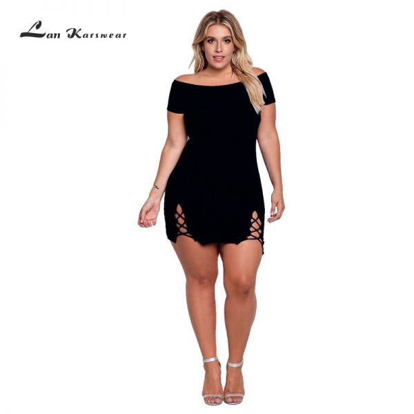Summer Dress Woman XXXL Plus Size Sexy Bodycon Office Ladies