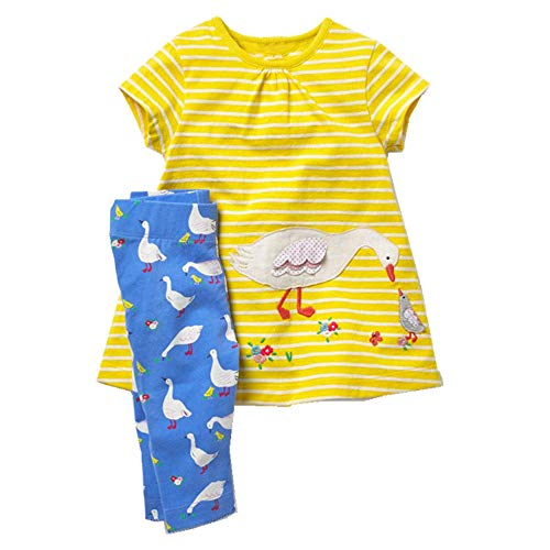 Toddler Baby Girls Clothing Set Cut Print Short Sleeve T Shirt and Pants