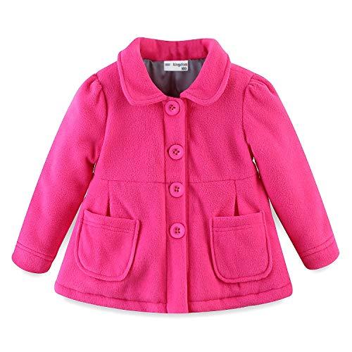Mud Kingdom Baby Girl Fleece Jacket Coat Hot Pink 9 Months