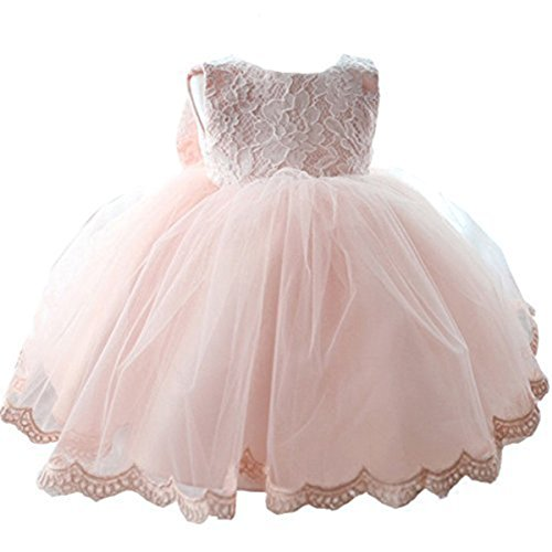 NNJXD Girls' Tulle Flower Princess Wedding Dress for Toddler and Baby