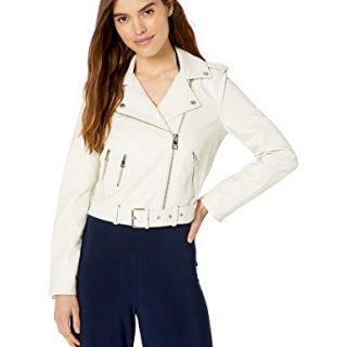 Levi's Women's Faux Leather Asymmetrical Belted Motorcycle Jacket