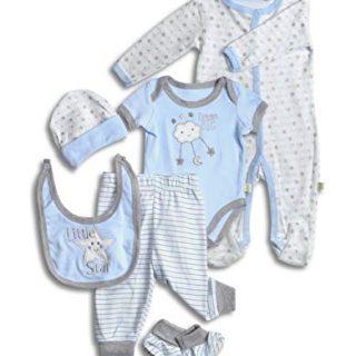 Layette Set, 6 Piece Baby Essentials for Newborn Unisex Gift Boys and Girls