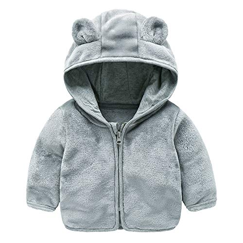 Jchen(TM) Baby Infant Girls Boys Autumn Winter Cute Ear Hooded Coat Jacket