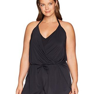 Kenneth Cole REACTION Women's Plus-Size V-Neck One Piece