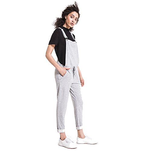 Z SUPPLY Women's Star Print Overalls Lightweight Relaxed Fit