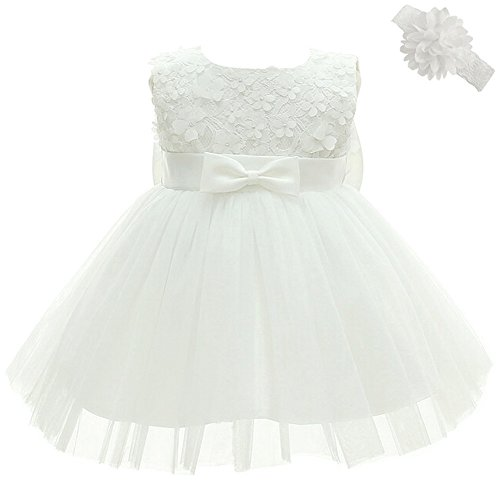 Coozy Baby Girl Dress Christening Baptism Party Formal Dress