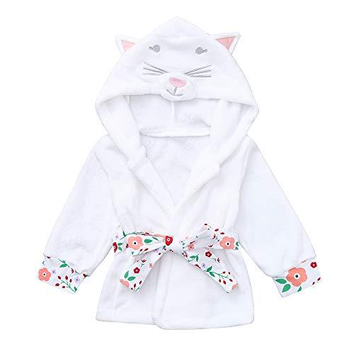 NUWFOR Toddler Baby Boys Girls Long Sleeve Bathrobe