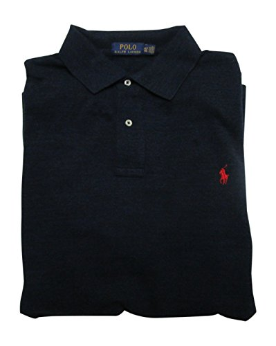 Polo Ralph Lauren Mens Big & Tall Big Tall Weathered Mesh Polo Shirt