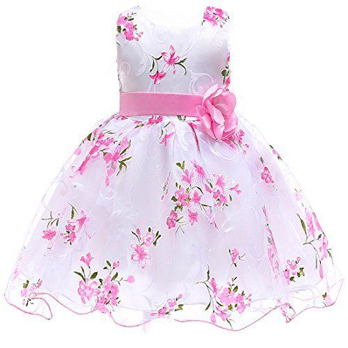 Berngi Summer Kids Clothes Baby Girls Flower Princess Dress