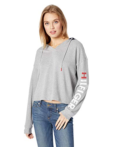 Tommy Hilfiger Women's Retro Style Hoodie Sweatshirt Sweater