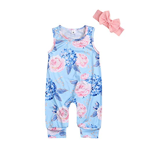 YOUNGER TREE Newborn Baby Girls Romper Jumpsuit Full Flower