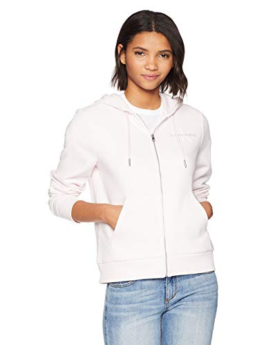 Calvin Klein Jeans Women's Monogram Logo Zip Up Hoodie Sweatshirt