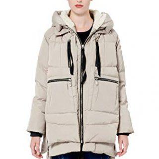 Orolay Women's Thickened Down Jacket Beige XL