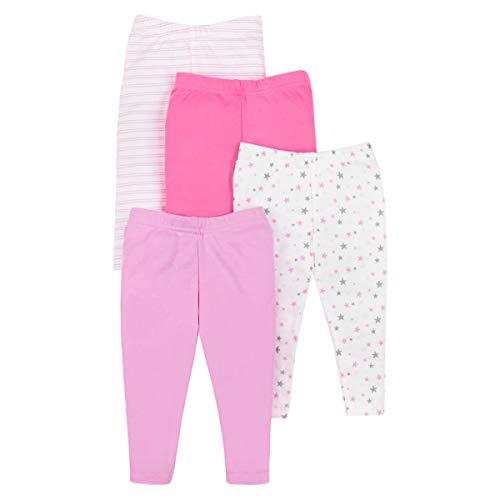 Lamaze Organic Baby Girls Baby Organic 4 Pack Pants