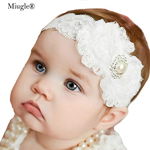 Miugle Baby Christening Headbands Baby Girl Baptism Headbands