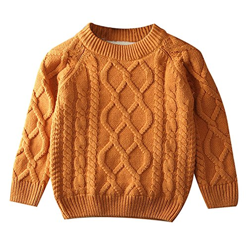 Toddler Baby Boy Girl Cable Knit Pullover Sweater Warm Sweatshirt