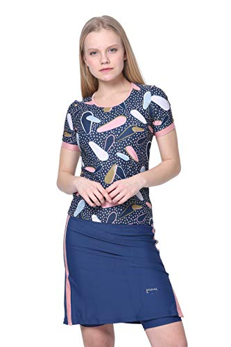 Amanda K Modest Swimwear for Women Short Sleeves Shirt