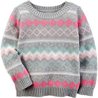 Carter's Baby Girls' Sweater, Print 3M