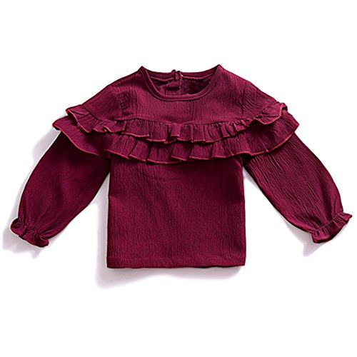 YOHA Baby Girls Spring Autumn Ruffle Top Blouse Long Sleeve