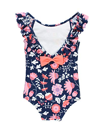 RuffleButts Baby/Toddler Girls Floral One Piece Swimsuit