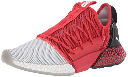 PUMA Men's Hybrid Rocket Runner Sneaker high Risk red Black White