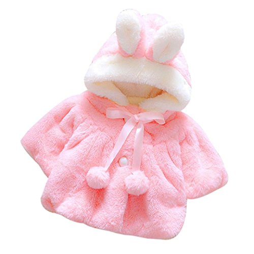 Muxika Fashion Baby Girl Fur Winter Warm Coat Cloak Jacket