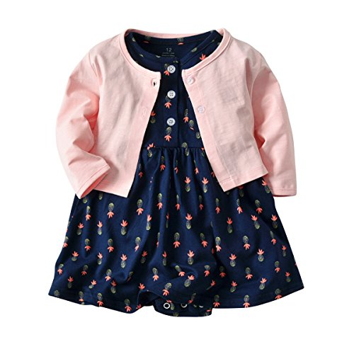 Baby Girl Long Sleeve Floral Romper Dress Skirt Casual Toddler Baby Girl Clothes Set