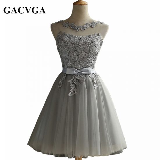 GACVGA 19 Elegant Lace Diamond Summer Dress