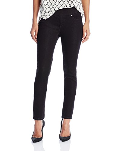 Jag Jeans Women's Nora Skinny Pull on Jean, Black Rinse Knit