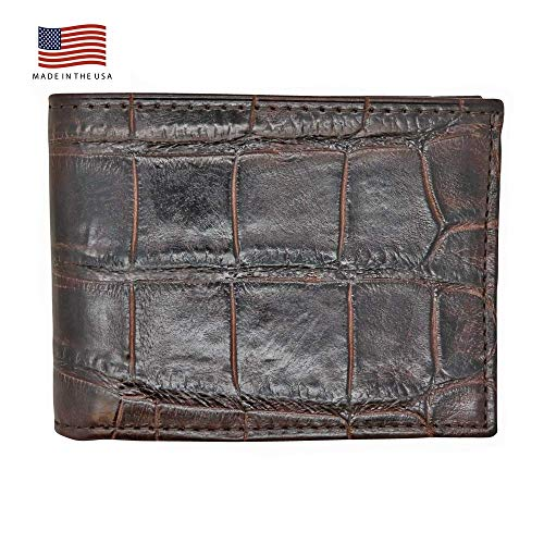 Brown Genuine Millennium Alligator Bifold Wallet