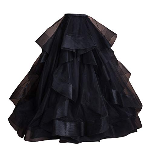 flowerry Tiered Ruffle Organza Skirt Detachable Wedding Bridal