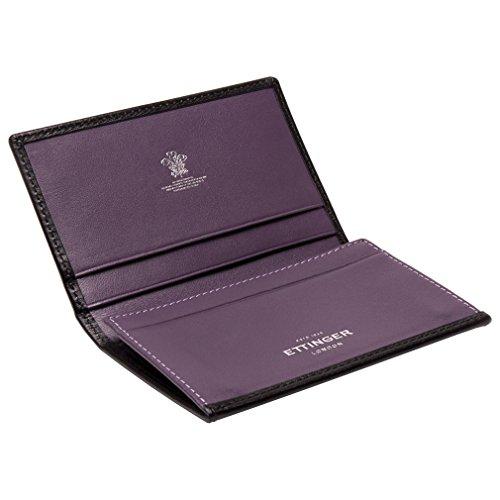 Ettinger Men's Black/Purple Sterling Visiting Card Case