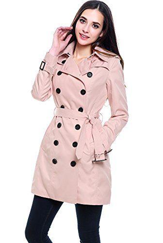BGSD Women's Viv Waterproof Hooded Mid Length Trench Coat