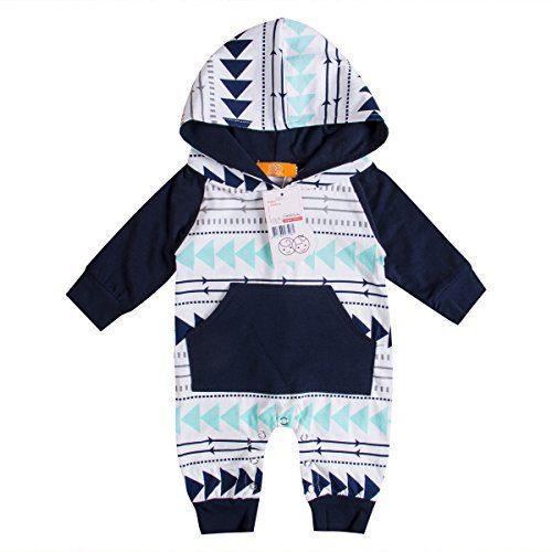 Emmababy Baby Boys Girls Jumpsuit Hoodie Romper Outfit Long Sleeve