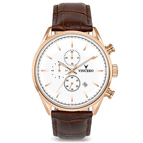 Vincero The Chrono S Dial Leather Strap Men's Watch
