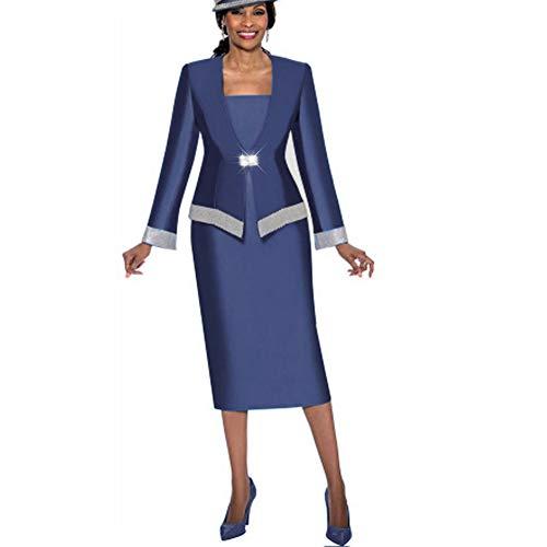 Kueeni Women Church Suits With Hats Church Dress Suit