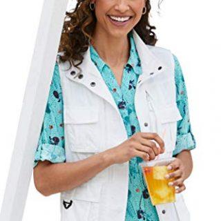 TravelSmith 15 Pocket Travel Vest for Women | Hidden Pockets
