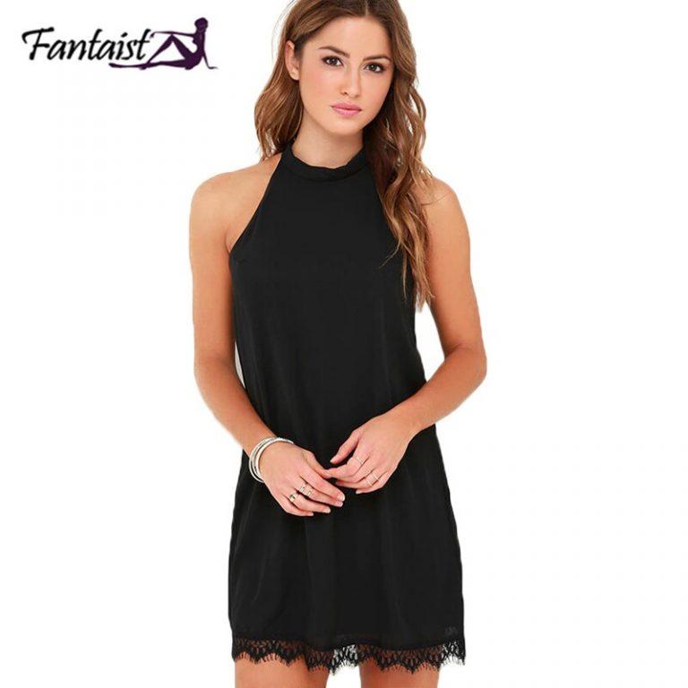 Fantaist Summer Dress Women Mini Chiffon Party