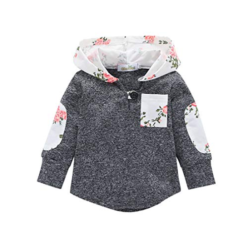 Toddler Baby Boys Girls Stylish Plaid Pocket Print Sweatshirt Hooded Coat