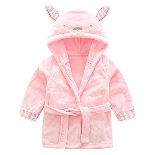 NUWFOR Baby Boys Girls Kids Bathrobe Cartoon Animals Hooded