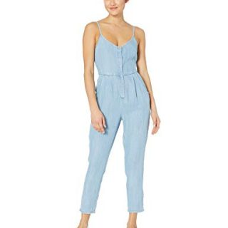 RVCA Womens Flasher Slim FIT Jumpsuit, chambray S