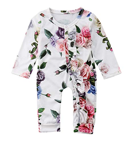 VISGOGO Newborn Baby Girls Kid Rose Flower Bodysuit