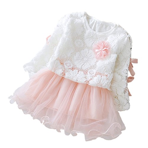 2 - piece Baby Girls Long Sleeve Princess Flower Dress
